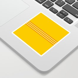 Filigree Thin Stripes on Yellow Sticker