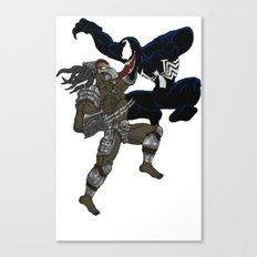 Predator vs Venom Canvas Print