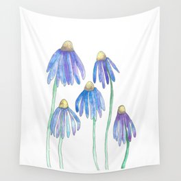 Blue Spring Daisies Wall Tapestry