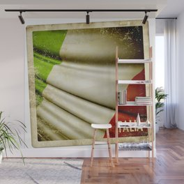Grunge sticker of Italy flag Wall Mural