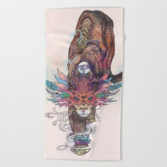 Journeying Spirit (Mountain Lion) Beach Towel