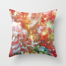 Enaustic Galaxy  Throw Pillow