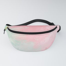 Pastel Pink And Soft Green Watercolor Abstract #3 Fanny Pack