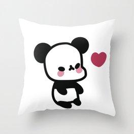 Kawaii Panda Bear - Cute Panda Bear Throw Pillow