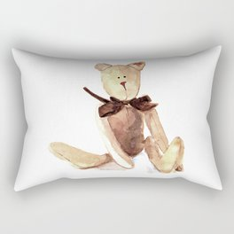 Brown Teddy Watercolor painting Rectangular Pillow