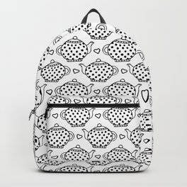 polka dot teapots and hearts  pattern Backpack