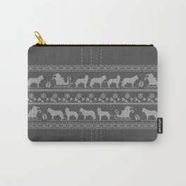 Ugly christmas sweater | Husky grey Carry-All Pouch