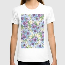 Big Blue Poppies T-shirt