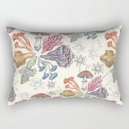 Mushroom Color Wheel Rectangular Pillow