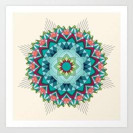 Southwest Flower Mandala Art Print