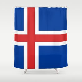 National flag of Iceland Shower Curtain