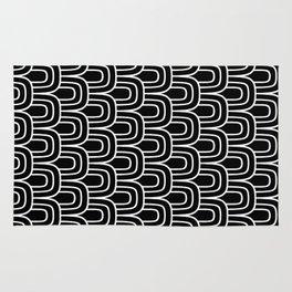 Rainbow Scallop Pattern Black & White 2 Rug