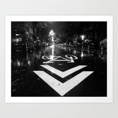 The Right Way Art Print