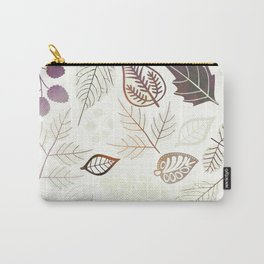 Purple Leaf Carry-All Pouch