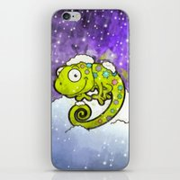 chameleon iPhone & iPod Skins featuring Chameleon by Martin Jonas