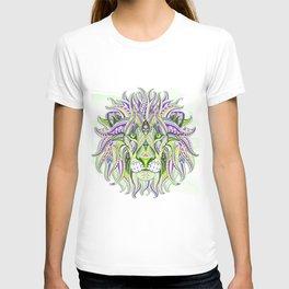 Green Ethnic Lion T-shirt