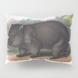 Wombat in the nature of Australia Pillow Sham