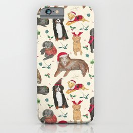 Holiday Dogs iPhone Case