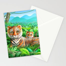 Tiger and Cubs Stationery Cards