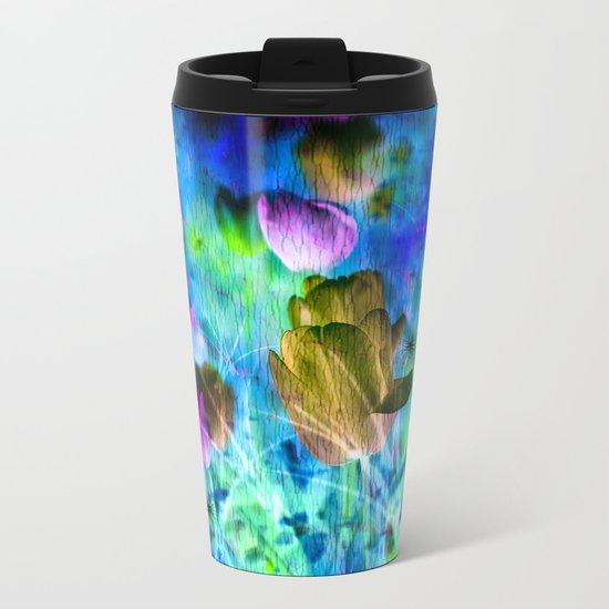 Blue Ocean of Tulips Metal Travel Mug