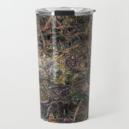 Abstract material shinny surface texture pattern digital illustration concept design graphic style b Travel Mug