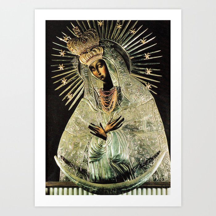 Our Lady Gate of Dawn Virgin Mary of Sharp Gate Madonna without Child Christmas Gift Religion Art Kunstdrucke