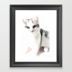Cloud Cat Framed Art Print