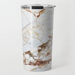 Manhattan Gold Marble Stone Travel Mug