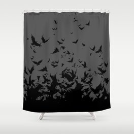 An Unkindness of Ravens (Grey) Shower Curtain