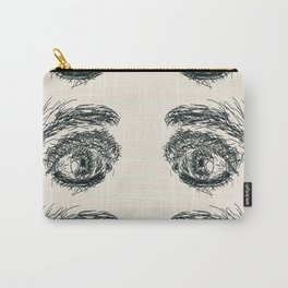 Exhausted  Eyes Carry-All Pouch