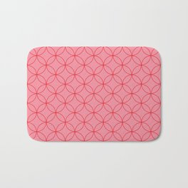 Moorish Circles - Pink & Red Bath Mat