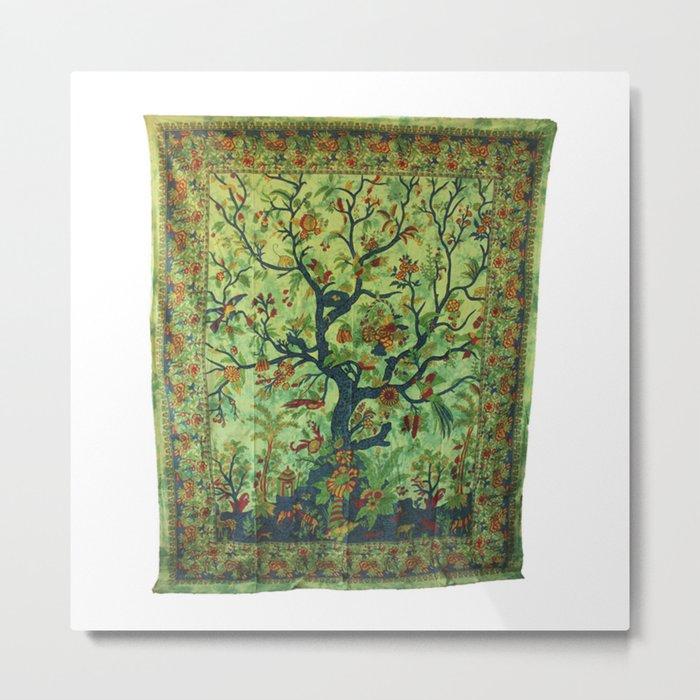 Tree of LIfe Tapestries Wall Hanging Metal Print