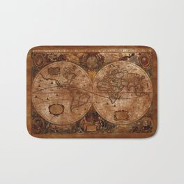 Vintage Olde Worlde Map 1620 Bath Mat