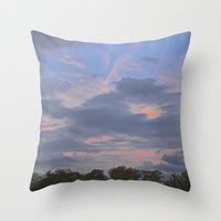 aperture Throw Pillows featuring A Misfit Day by R.J.