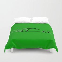 Fast Green Car Duvet Cover