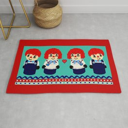 Little Wooden Raggedy People Rug