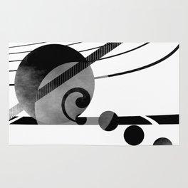 Black and white geometry 2016/001 Rug