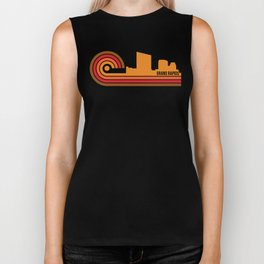 Retro Style Grand Rapids Michigan Skyline Biker Tank