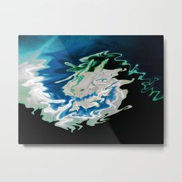 Dragon made of clouds Metal Print