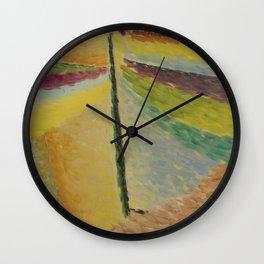 abstrakter kopf der schutzengel Wall Clock