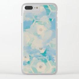 Blue skies, sweet dreams Clear iPhone Case