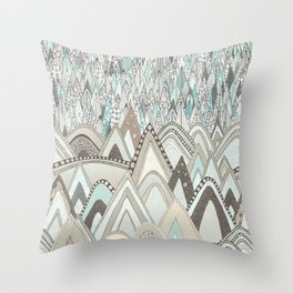 mountains and trees Throw Pillow