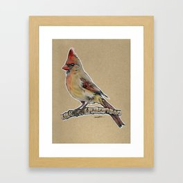State Bird Series: North Carolina - Northern Cardinal Framed Art Print