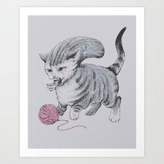 Kittehmorph Art Print