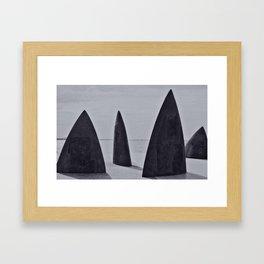 Shark sculpture Framed Art Print