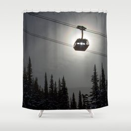 Sun Through the Gondola Shower Curtain