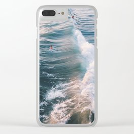Surf at Sunset Clear iPhone Case