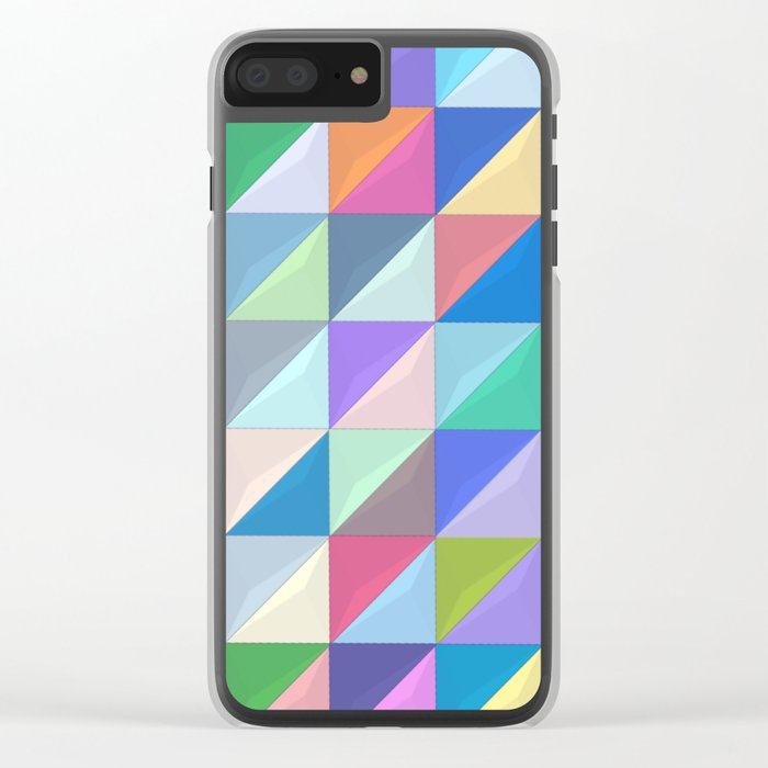 Geometric Shapes I Clear iPhone Case