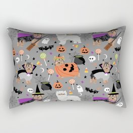 Yorkie halloween costumes pumpkin mummy witch vampire ghost yorkshire terrier Rectangular Pillow