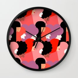 Together Girl Power - Pattern #girlpower Wall Clock